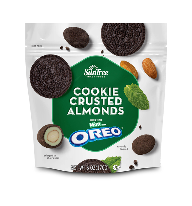 Mint Creme OREO<sup>®</sup> Cookie Crusted Almonds
