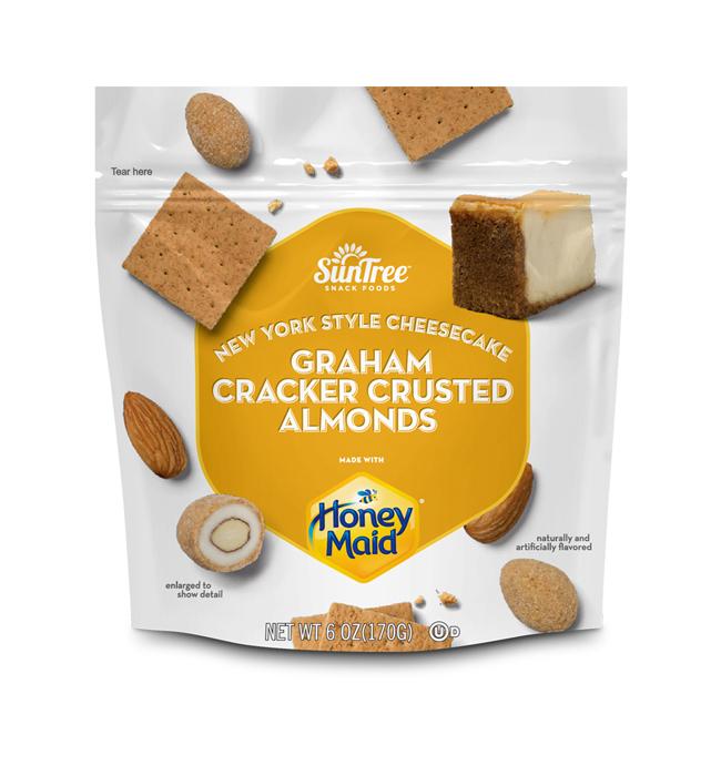 HONEY MAID<sup>®</sup> Graham Cracker Crusted New York Style Cheesecake Almonds