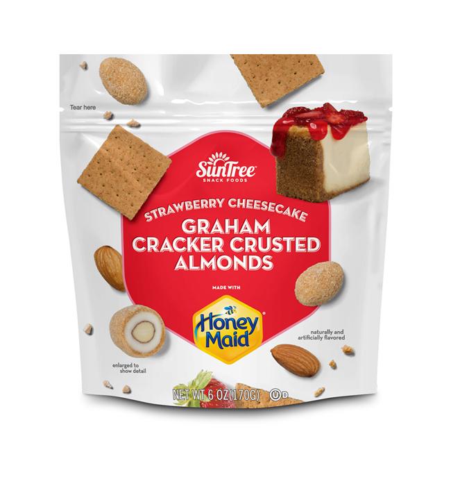 HONEY MAID<sup>®</sup> Graham Cracker Crusted Strawberry Cheesecake Almonds